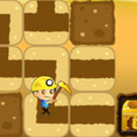 Jogos Novos,Find the way that to guide the miners to dig treasure by rotating path blocks.