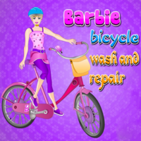 Barbie Bicycle Wash And Repair