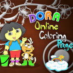 Dora Online Coloring Page