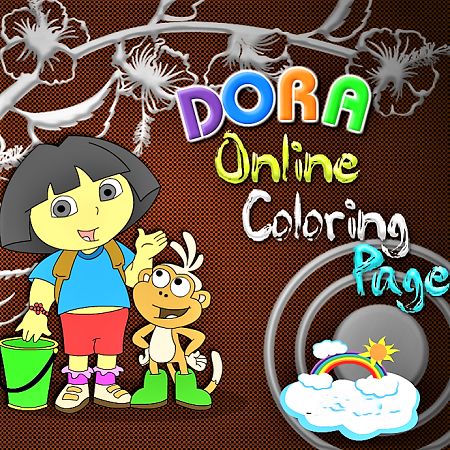 Dora Online Coloring Page
