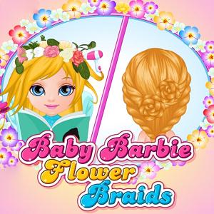Baby Barbie Flower Braids