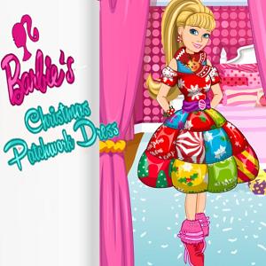Barbies Christmas Patchwork Dress