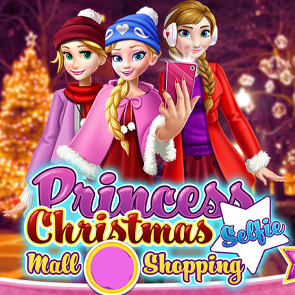 Princess Christmas Selfie Mall Shopping