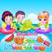 Baby Barbie Beach Slacking