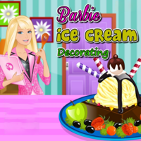Barbie Ice Cream Decorating