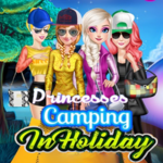Princesses Camping In Holiday