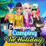 Princesses Camping In Holiday