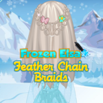 Frozen Elsa: Feather Chain Braids
