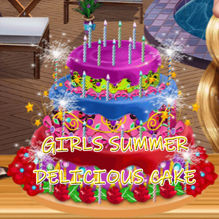 Girls Summer Delicious Cake