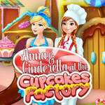 Anna & Cinderella At The Cupcakes Factory