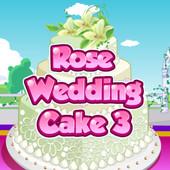 Rose Wedding Cake: 3