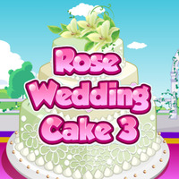 Rose Wedding Cake: 3