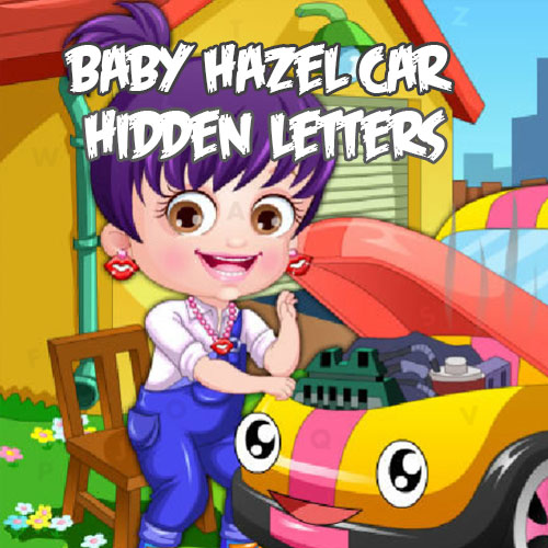 Baby Hazel Car Hidden Letters
