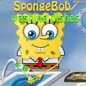 Spongebob: Washing Dishes
