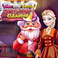 Elsa And Santa: Christmas Cleaning