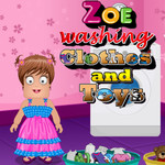 Zoe Washing Clothes and Toys