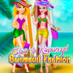 Elsa & Rapunzel: Swimsuit Fashion