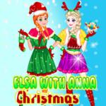 Elsa with Anna Christmas Day
