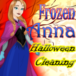 Frozen Anna: Halloween Cleaning