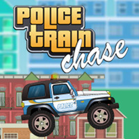 Police Train Chase