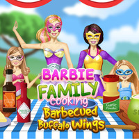 Barbie Family Cooking Barbecued Buffalo Wings