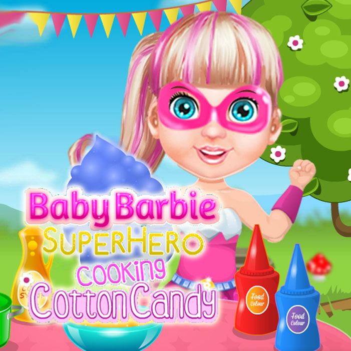 Baby Barbie Super Hero Cooking Cotton Candy