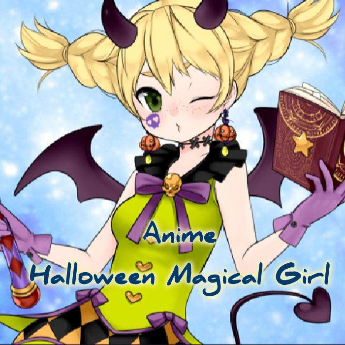 Anime Halloween Magical Girl