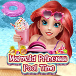 Mermaid Princess Pool Time