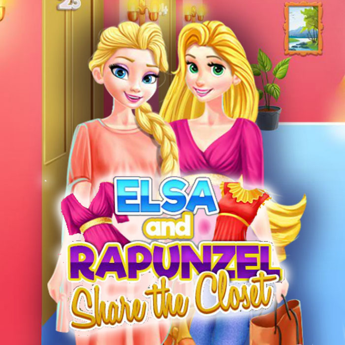 Elsa And Rapunzel Share The Closet