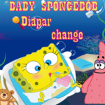Baby SpongeBob Diaper Change