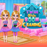 Twin Girls Room Cleaning