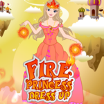 Fire Princess Dress Up New