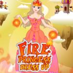 Fire Princess Dress Up New