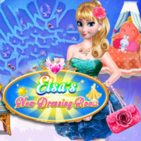 Game Online Gratis, Elsa's New Dressing Room is one of the Elsa Games that you can play on UGameZone.com for free.  Elsa wants to have a new dressing room. A room has fashion dresses, shoes, bags, and other accessories, please help her design and decorate the room. Great! Elsa's new dressing room is so beautiful, let's dress up! Have fun with Elsa's New Dressing Room!