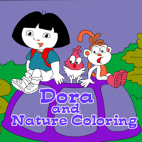 Dora And Nature Coloring