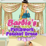 Barbie's Patchwork Peasant Dress