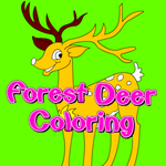 Forest Deer Coloring