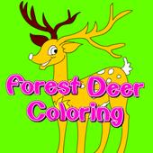 Forest Deer Coloring