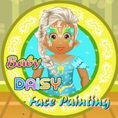 Baby Daisy Face Painting