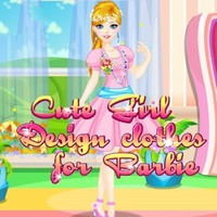 Cute Girl Design Clothes For Barbie