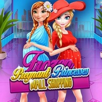 Frozen Pregnant Princess Mall Shopping