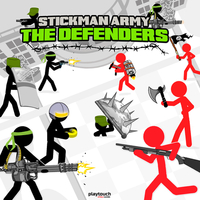 Trendy gier,Stickman Army The Defenders is one of the Tower Defense Games that you can play on UGameZone.com for free. You must Defend your country against revolutionaries and renegades. A crowd of renegade stickman have started to invade the institutions and kill people. The last hope of the country is its best army stratege... You !!! You are in command of a powerfull army that can stop the revolutionaries. You can end this civil war... But this is going to be an epic battle. Lead your units to the final victory.