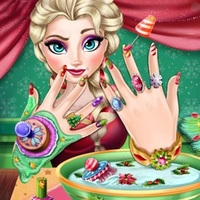 Beliebte Spiele,Elsa Christmas Manicure is one of the Nail Salon Game that you can play on UGameZone.com for free. Create a perfect Christmas manicure for the beautiful queen Elsa! Start out with a relaxing hand spa treatment and repair her broken nails using special salon tools.