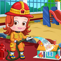Baby Hazel Firefighter Dress Up