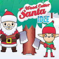 Wood Cutter Santa Idle