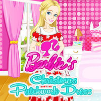 Barbie's Christmas Patchwork Dress