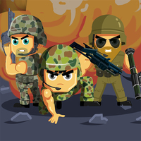 Jogos Online Gratis, Soldiers Combat is one of the Shooting Games that you can play on UGameZone.com for free. Soldiers Combat is an action-packed game with 8 Levels to clear each level you have to collect hidden keys that you can get under a box or from enemies. Collect more and more coins to unlock awesome guns and characters. Use Machine gun, bazooka, heat and cold gun to destroy the enemies. Be a real soldier. Start playing