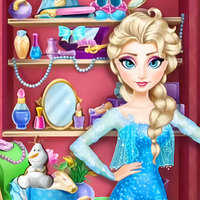 Popolare Giochi,Elsa's Closet is one of the Elsa Games that you can play on UGameZone.com for free. You can play Elsa Closet in your browser for free. Elsa has to get ready for a date with Jack, but she can't find her things in time, can you help her find out? Pearls, tiaras, and teacups are scattered around the bedroom, Elsa's dress will change when you find them. As fast as possible because time is limited! Then dress up Elsa after you find all things. Enjoy!